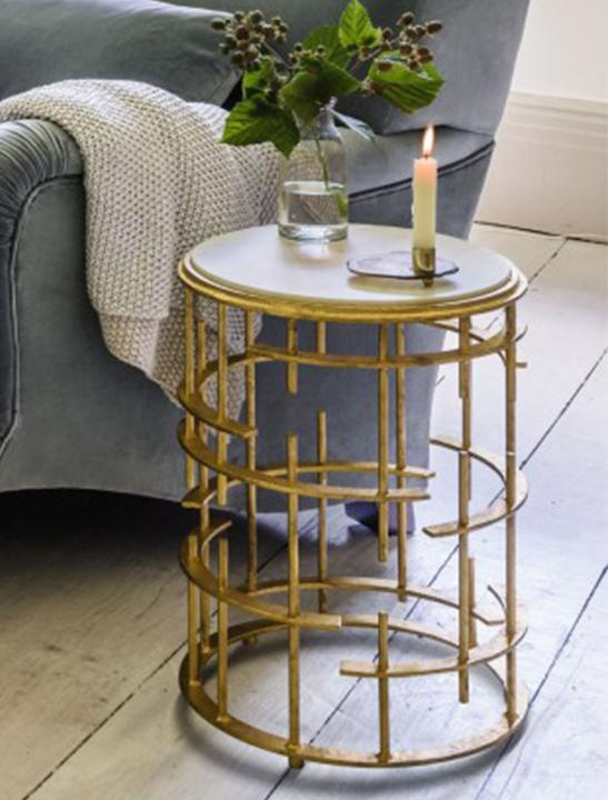Gold Side Table - Celebrity Big Brother Summer
