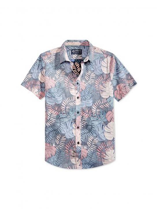 Tropical Leaf Print Shirt - Khalid - Young Dumb & Broke