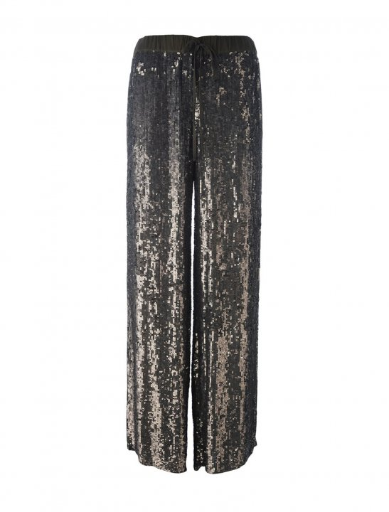 Sequin Wide Trousers - Pink