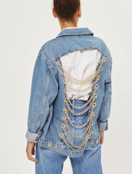 Denim Chain Jacket Other TOPSHOP