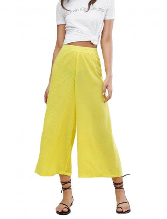 Yellow Pleated Culottes - Fifth Harmony