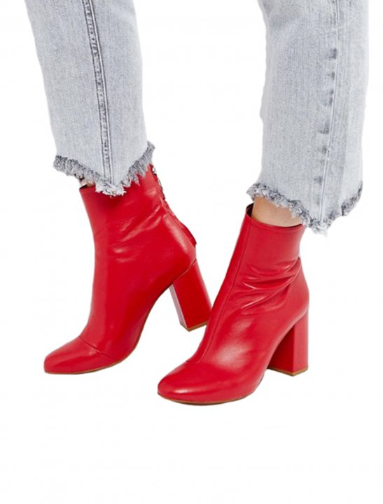 Leather Zip Ankle Boots - Fifth Harmony
