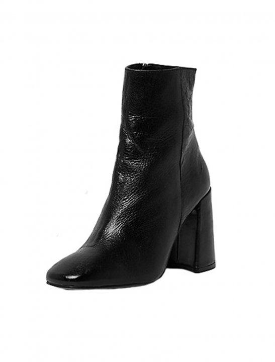 Leather Block Heel Boots - Fifth Harmony