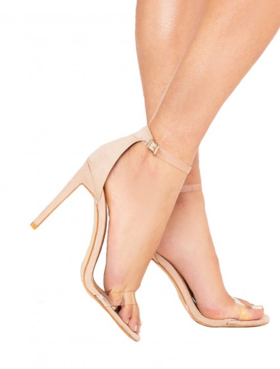 Nude Heeled Sandals - Fifth Harmony
