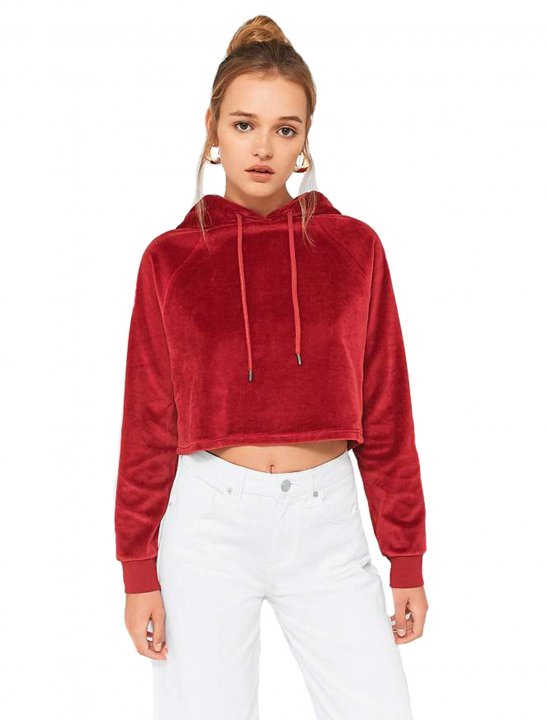 Velour Cropped Hoodie - Fifth Harmony