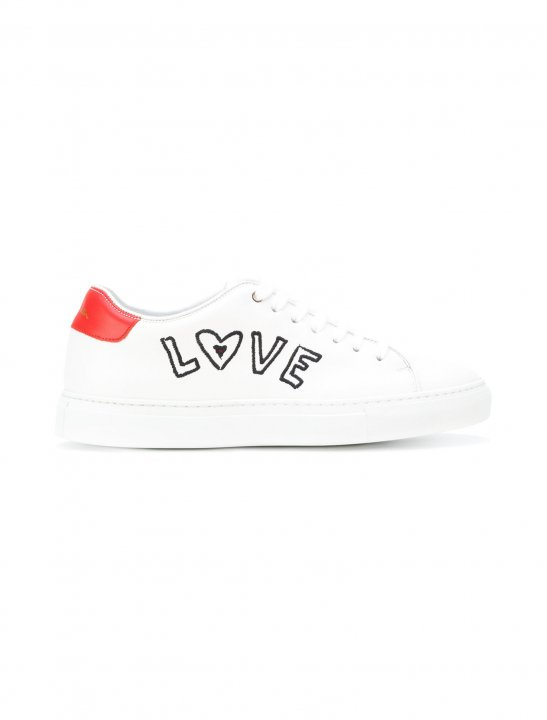 Trainers With Love Embroidery - Ella Eyre