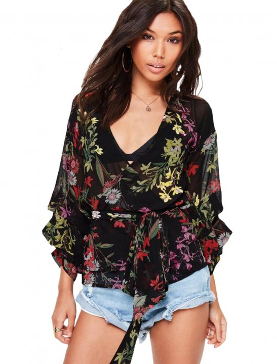 Floral Print Blouse Clothing Missguided
