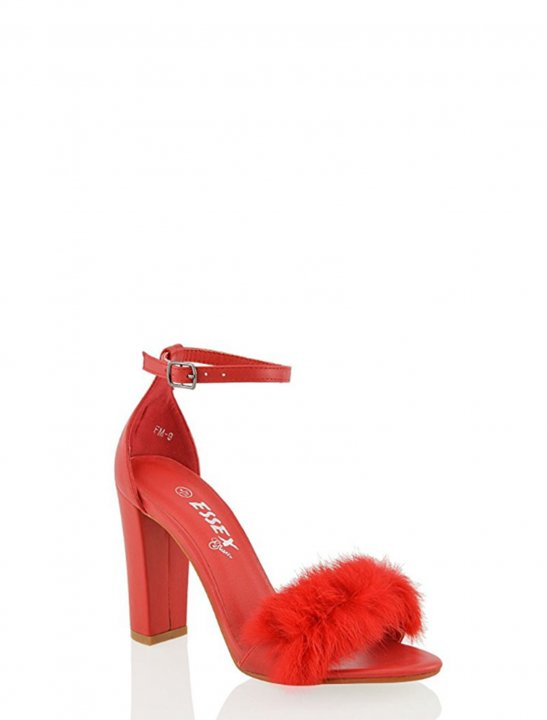 Fur Chunky Heels - Camila Cabello