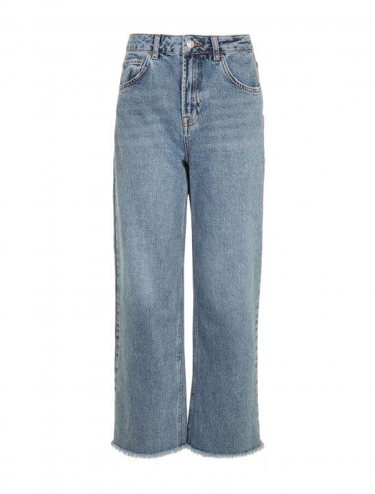 Cropped Wide Leg Jeans - Noah Cyrus