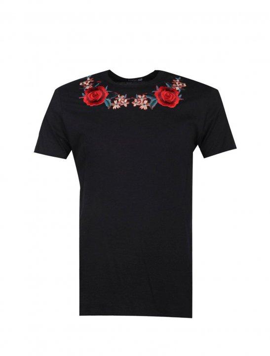 Neck Embroidered T-Shirt - Chris & Kem