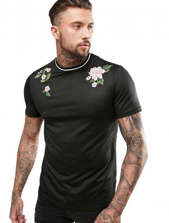 Floral Embroidery T-Shirt - Chris & Kem