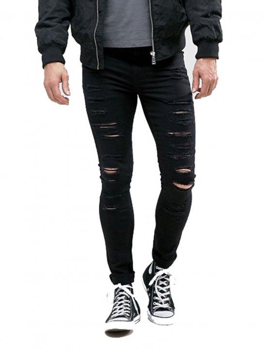 Skinny Jeans With Rips - Chris & Kem
