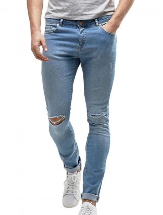 Jeans With Knee Slit - Chris & Kem