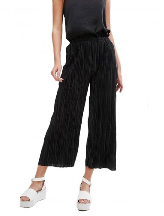Black Plisse Culotte - Chris & Kem