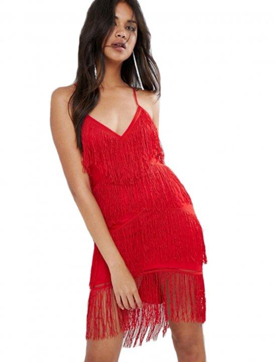 Fringe Bodycon Dress Clothing Asos