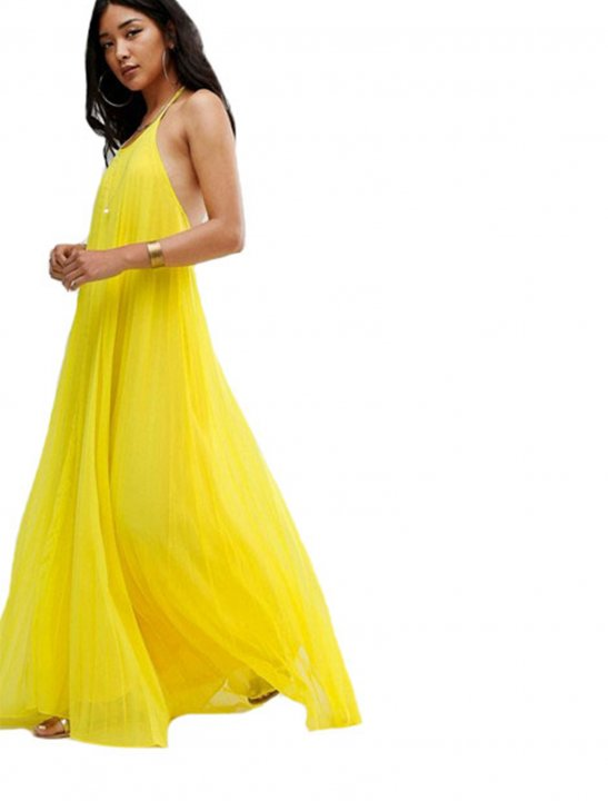 Pleated Maxi Dress - Camila Cabello