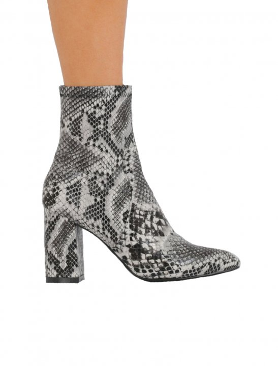 Snake Print Ankle Boots - First Aid Kit