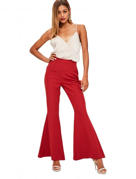 Red Flared Trousers - First Aid Kit