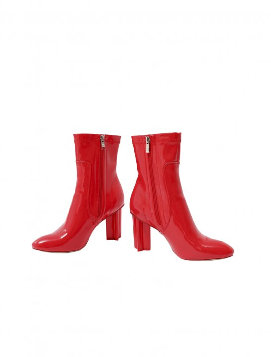 Red Patent Ankle Boots - First Aid Kit