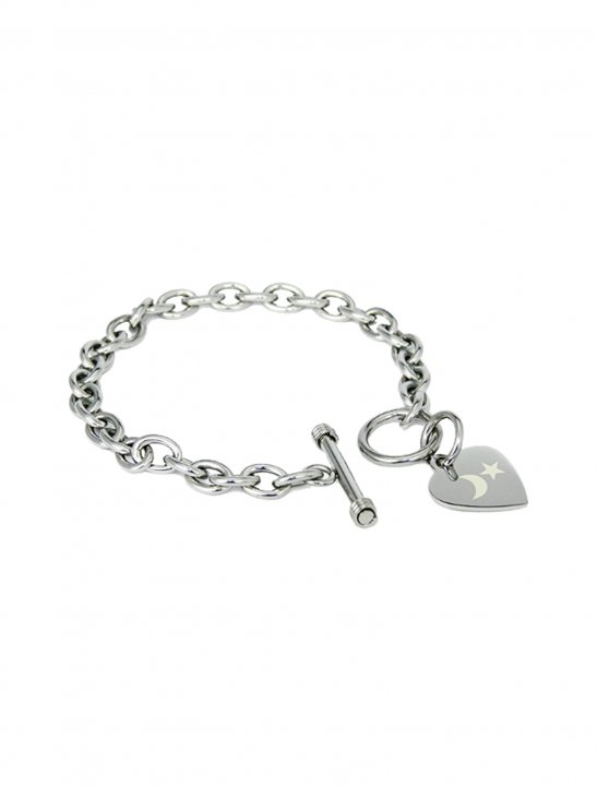 Engraved Heart Tag Bracelet - N.E.R.D & Rihanna