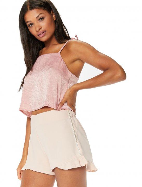 Darcy Blush Embellished Shorts - N.E.R.D & Rihanna