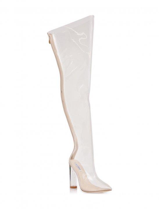 Clear Thigh-High Boots - N.E.R.D & Rihanna