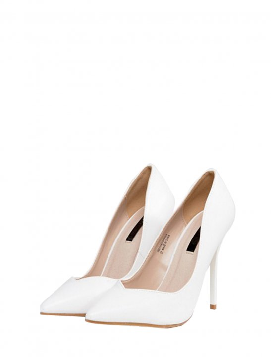 White Heeled Court Shoes - Camila Cabello