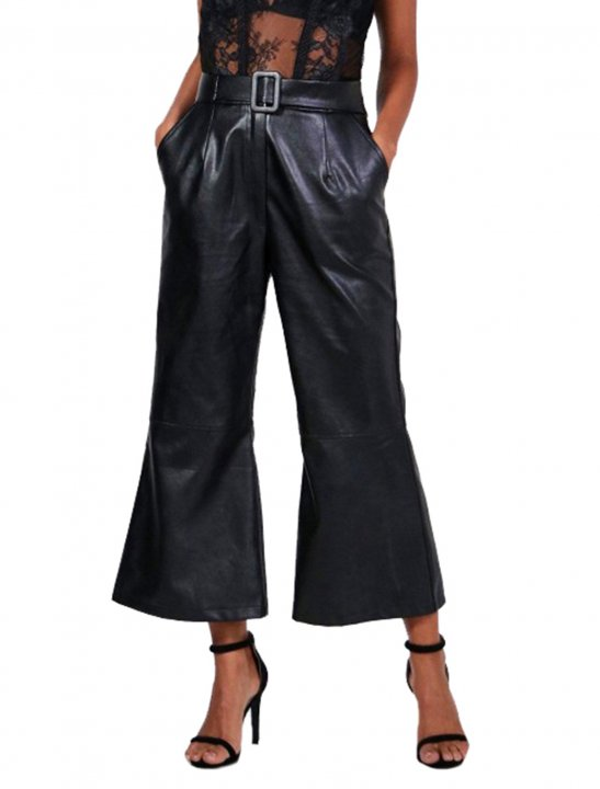 Belted Wide Leg Culottes - Jennifer Lopez