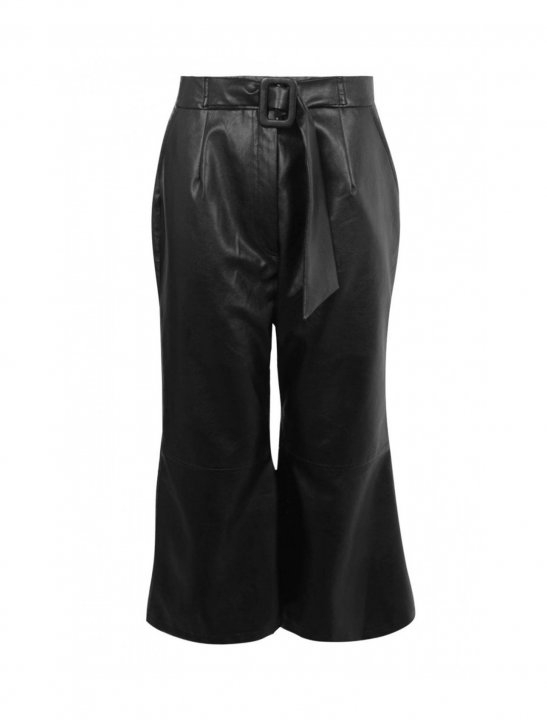 Belted Wide Leg Culottes Clothing Boohoo