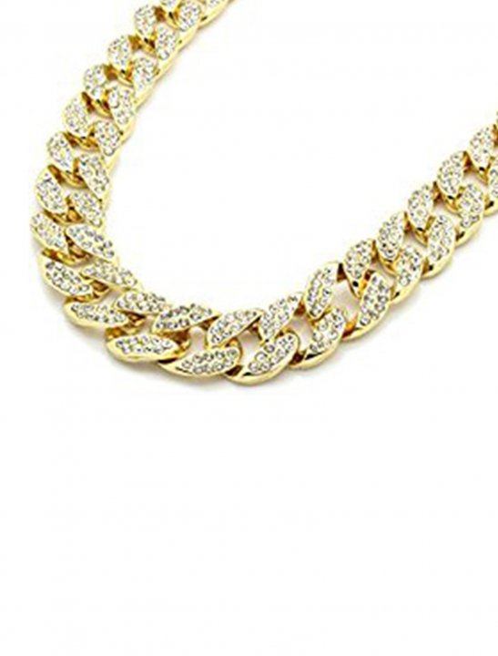 Gold Tone Cuban Necklace Jewellery L & L Nation