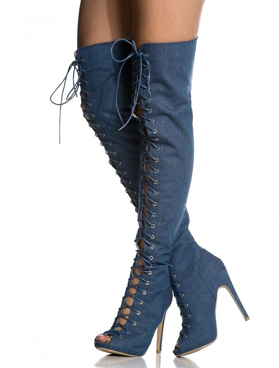Lace Up Toe Boot Shoes Miss Diva