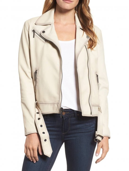 Leather Moto Jacket - Jennifer Lopez