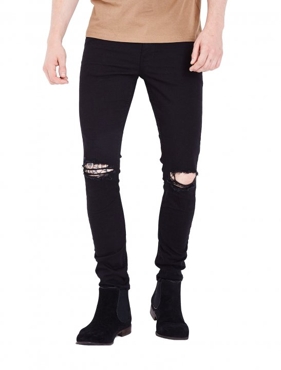 Ripped Knee Skinny Jeans - Isac Elliot