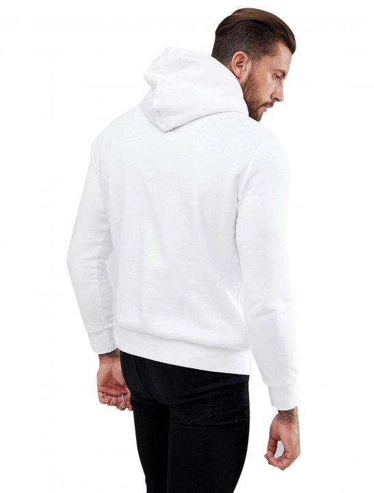 White Slogan Hoodie Clothing Bershka