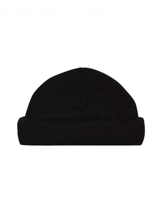 Black Mini Roll Beanie - Isac Elliot