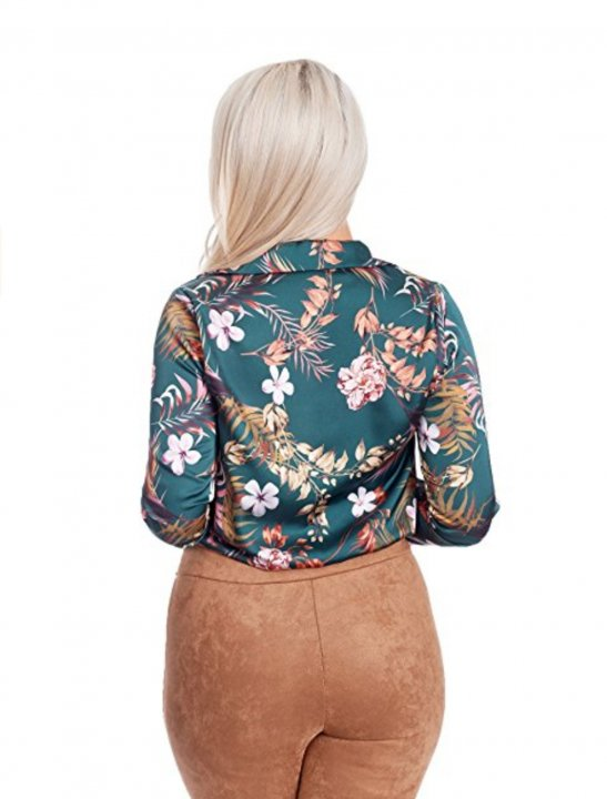 Silk Floral Print Shirt Clothing MissBardo