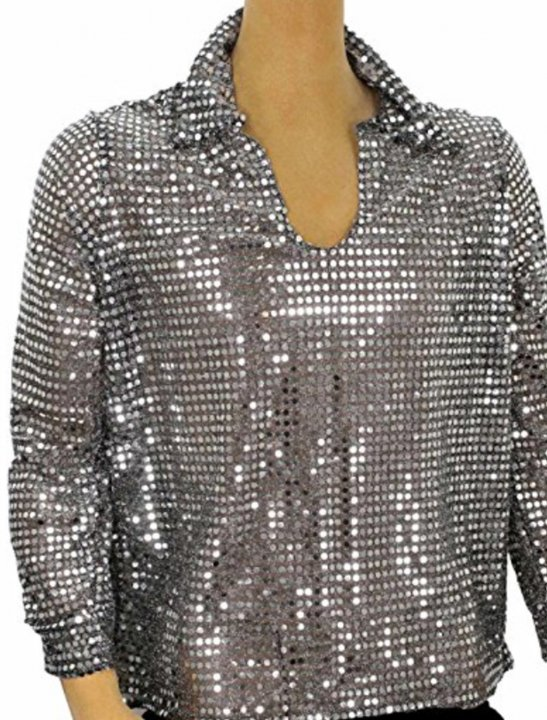 Sequin Disco Shirt Clothing Largemouth