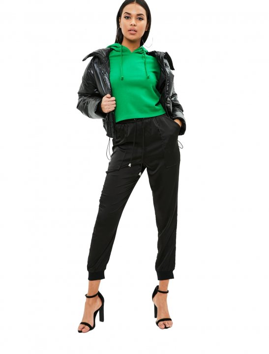 Cropped Flared Sleeve Hoodie Clothing Missguided