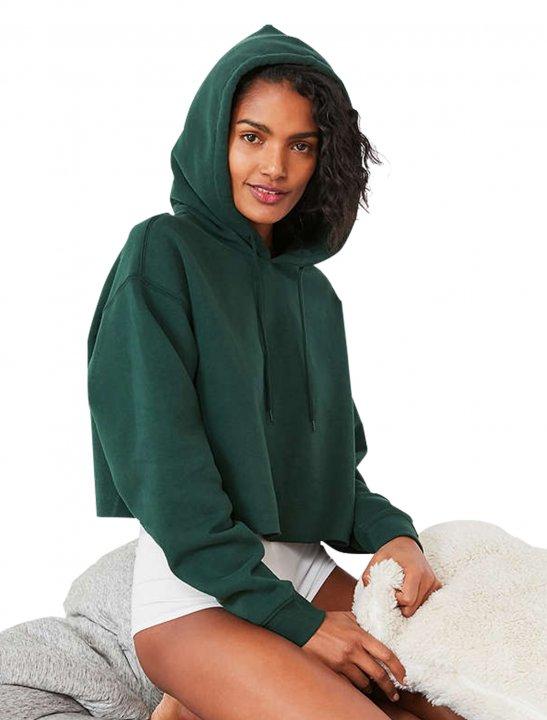 Cropped Hoodie Sweatshirt - Olivia Noelle