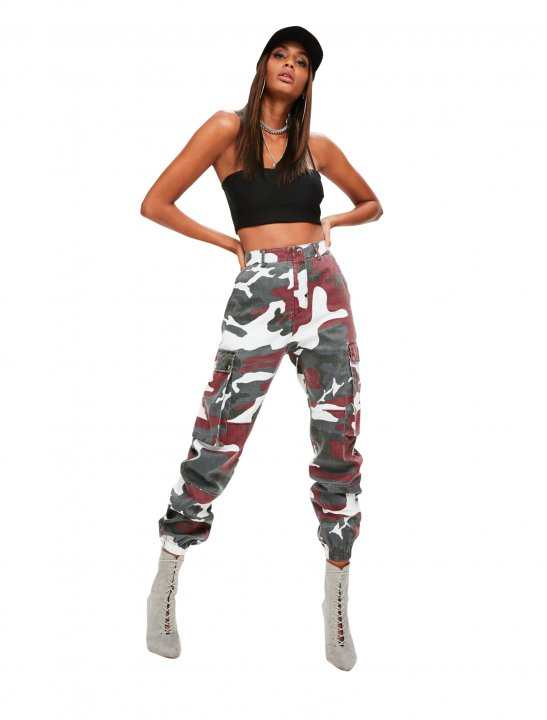 Red Camo Pants Clothing Missguided