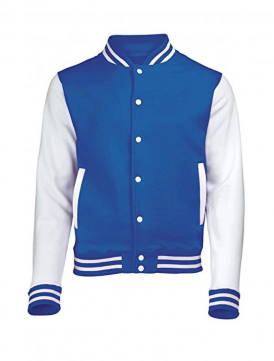 Blue Varsity Jacket Clothing 123t COLLEGE JACKET