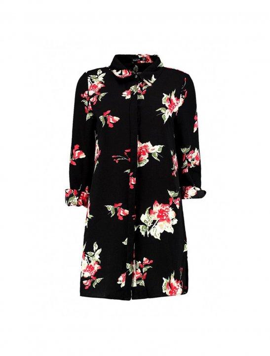 Floral Shirt Dress - Olivia Noelle