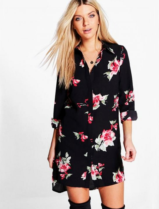 Floral Shirt Dress Clothing Boohoo
