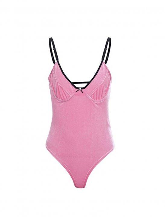 Velvet Bodysuit Clothing Simplee Apparel