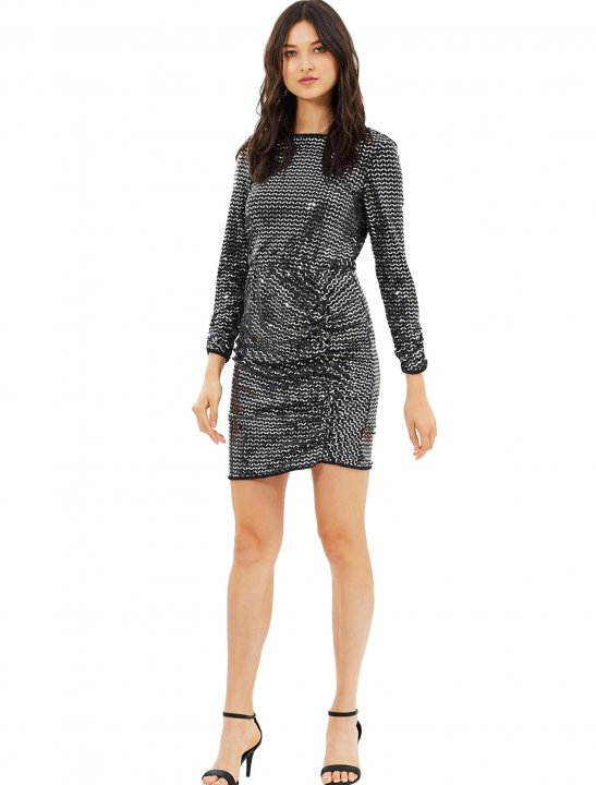 Mirror Metallic Rouched Dress Clothing Miss Selfridge