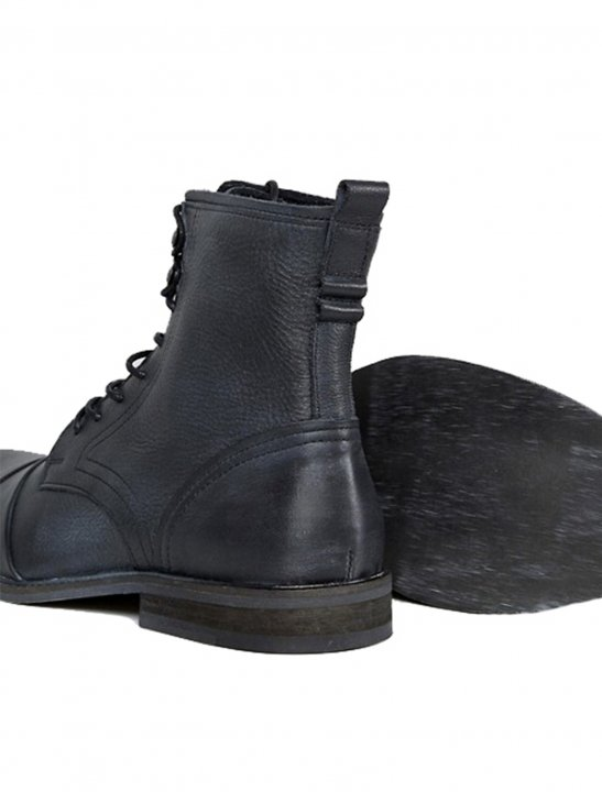Distressed Military Boot Shoes River Island