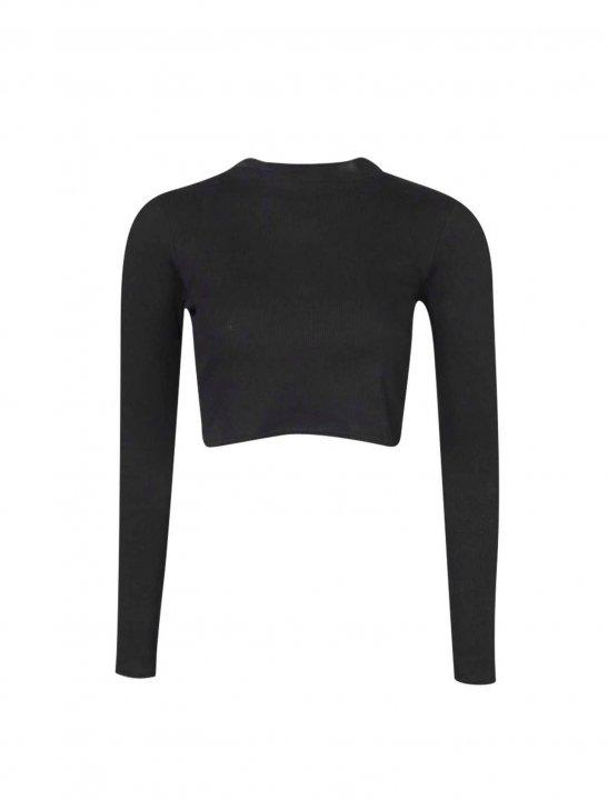 Long Sleeve Crop Top Clothing Boohoo