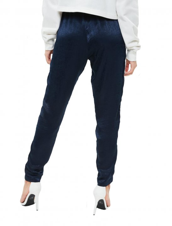 Satin Double Stripe Joggers Clothing Missguided