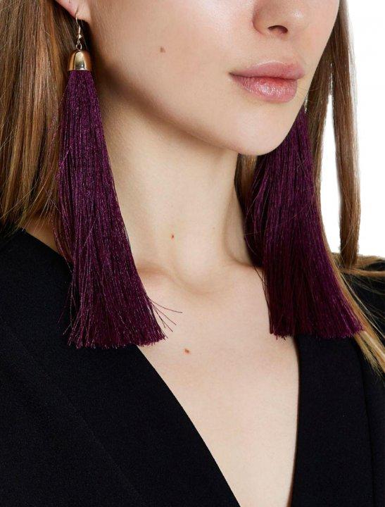 Purple Tassel Drop Earrings - MØ