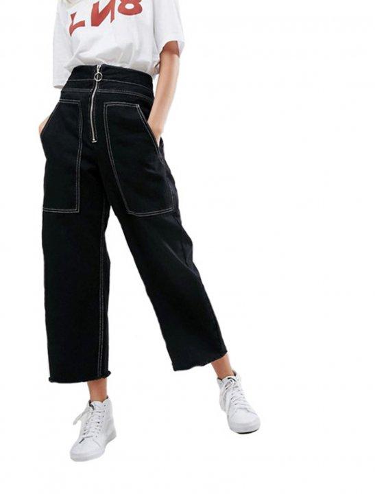 Wide Leg Utility Jeans - Lauren Jauregui x Steve Aoki